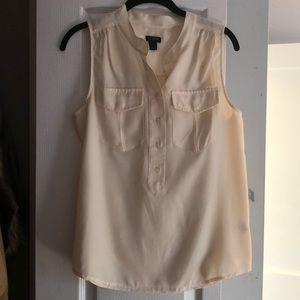 Jcrew cream tank blouse